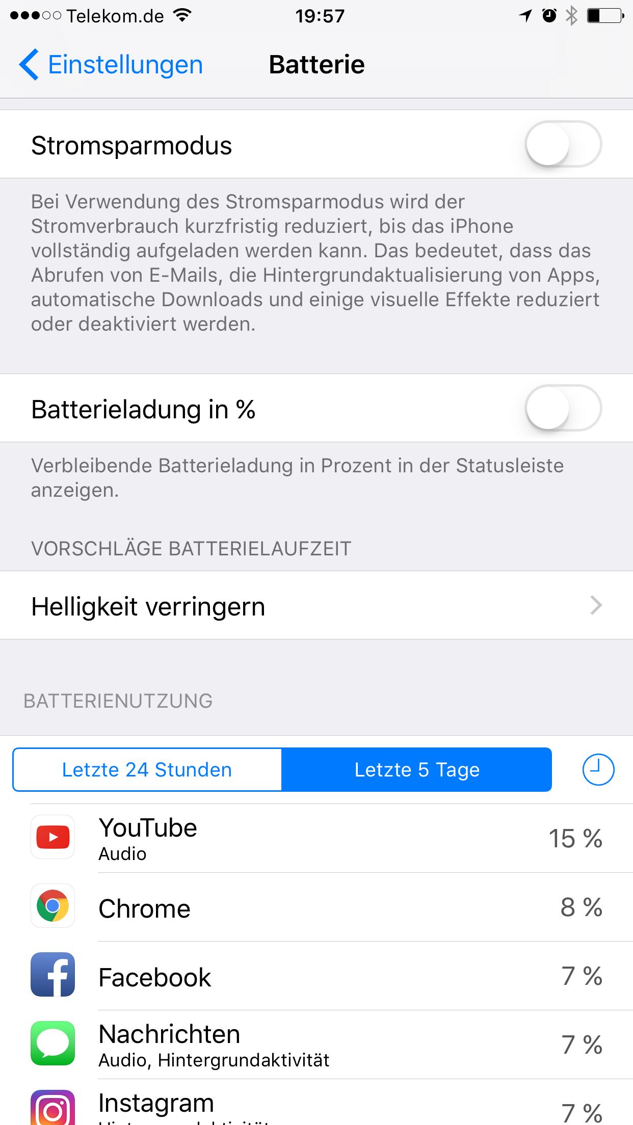 iPhone / iPad Akku schnell leer?