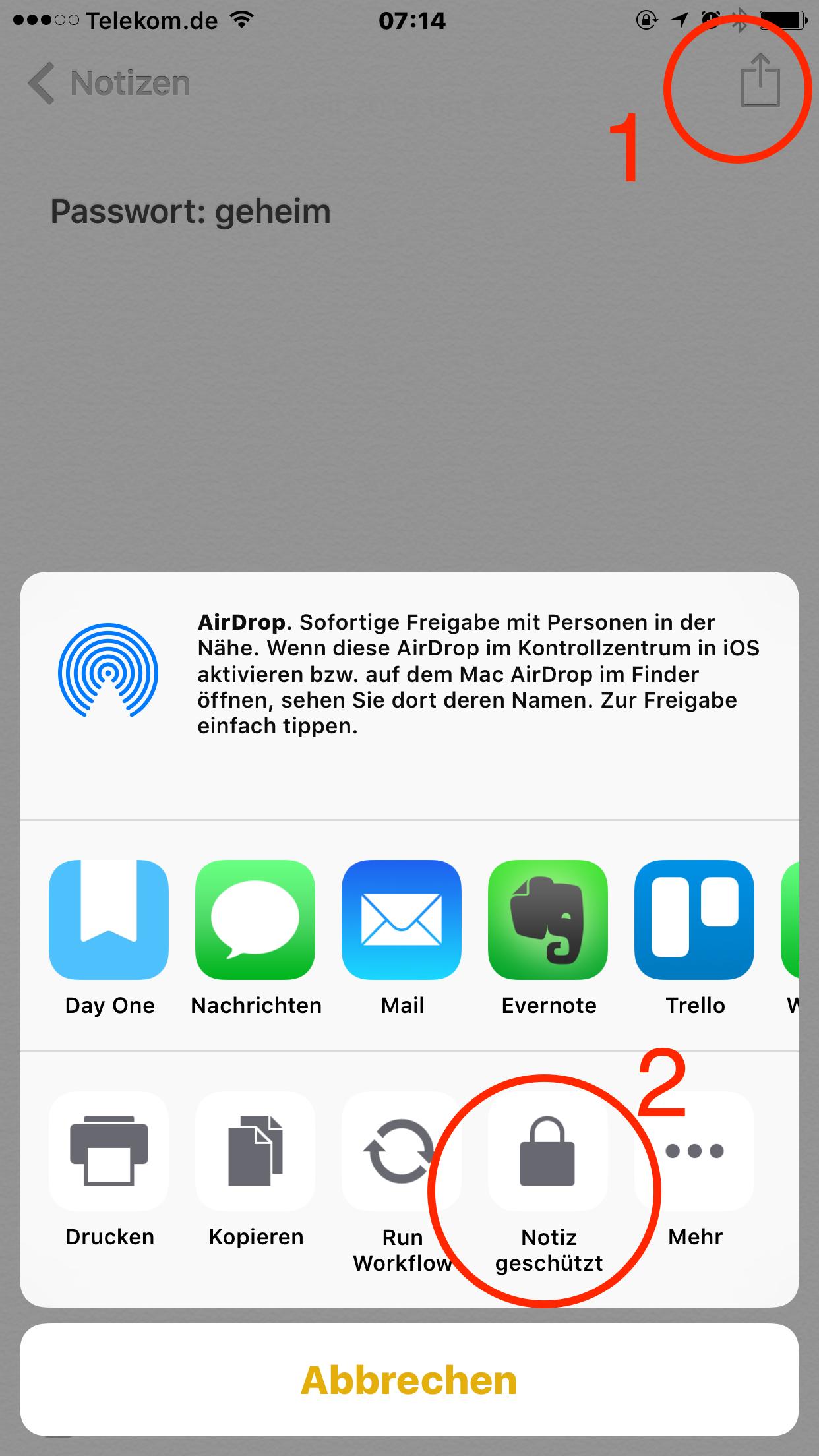 PIN und Passwörter auf dem iPhone
